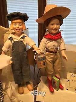 11 -12 Porcelain Country Store Dolls Collection From Franklin Heirloom