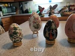 11 Franklin Mint Faberge Porcelain Eggs