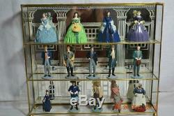15 Franklin Mint Gone With The Wind Porcelain Figurines w Display Stand