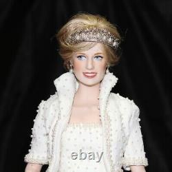 17 Diana Princess Of Wales Porcelain Portrait Doll By Franklin Mint