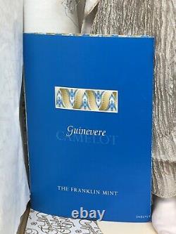 17 Franklin Mint Porcelain Doll Queen Guinevere BeautyCamelot Series MINT Box