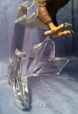 1991 Franklin Mint Porcelain Eagle Figurine on Crystal Mountain
