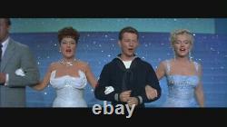 1997 Franklin Mint Marilyn Monroe Glittery Blue Dress Gown Porcelain Doll WithBOX