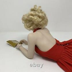 2002 Franklin Mint Forever Marilyn Monroe Porcelain Portrait Red Dress Doll