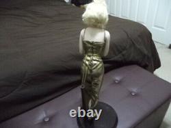 2003 Franklin Mint Always Marilyn Monroe Porcelain Portrait Dress Doll & Stand