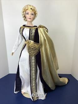 22 Franklin Heirloom Porcelain/Cloth Doll The Lady Eowyn Lord Of The Rings Box