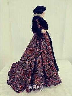 22 Scarlett Paisley Robe Franklin Mint Gone With The Wind Porcelain Doll GWTW