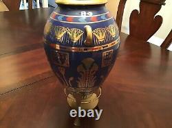 2 Franklin Mint 24kt gold Egyptian Vases fine porcelain, Roushdy Iskander Garas