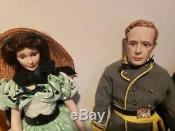 5 Gone With The Wind Porcelain Bisque Franklin Heirloom Dolls