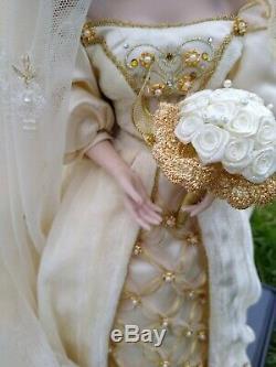 Aleksandra Franklin Mint Porcelain Doll, Faberge Winter Bride With Papers