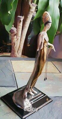 Amazing House of Erte Porcelain Sculpture Isis By Franklin Mint
