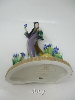 Ayame Princess Of Iris Blossoms By Manabu Saito Porcelain Figurine Franklin Mint