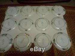 BIRDS And FLOWERS Of The ORIENT Franklin Mint SET 12 Asian porcelain ART PLATES