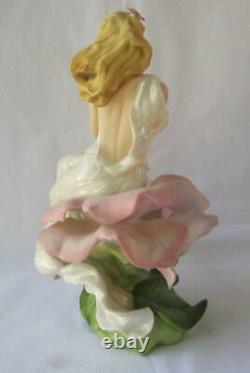 Beautiful Art Deco Franklin Mint LADY ROSE by Jegou Porcelain Figurine
