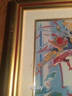 Blushing Beauty by Peter Max Franklin Mint Porcelain COA
