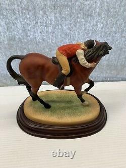 British Horse Society Best Friends Wood Base Paulie Parsans Franklin Mint 1988