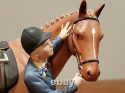 British Horse Society First Prize Figurine Franklin Mint 1987 Fine Porcelain
