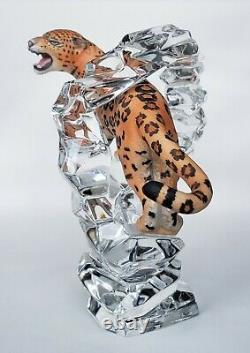 Cats Of The World By Franklin Mint Porcelain Leopard Figurine On Crystal Base