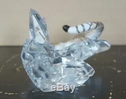 Cats of the World by Franklin Mint Porcelain Snow Leopard Figurine Crystal Base