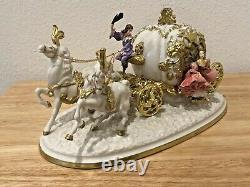 Cinderella's Magical Moment Enchanted Coach Porcelain Figure Swarovski Crystal