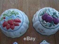 Collection of 12 Franklin Mint Cordon Bleu Porcelain Jelly Moulds