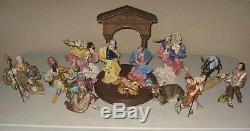 Complete 13 Pc Set Franklin Mint Vatican Nativity Porcelain Sculpture Collection