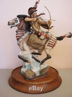 Complete 8 Pc Porcelain Franklin Mint American Indian Heritage Collection