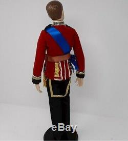 DANBURY MINT Doll PRINCE WILLIAM Bride Groom RAF Uniform IOB VINTAGE FREE SHIP