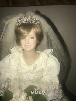 Danbury Mint Princess Diana Doll Porcelain Wedding/Bride Doll