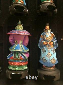 Emperors of Orient Chess Set Franklin Mint Complete VGUC RARE HTF READ Descriptn