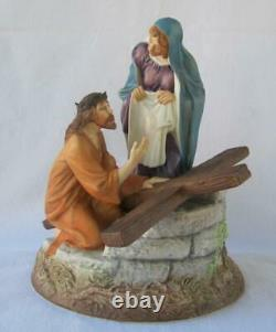 Exquisite Large Franklin Mint JESUS THE ROAD TO CALVARY Porcelain Figurine