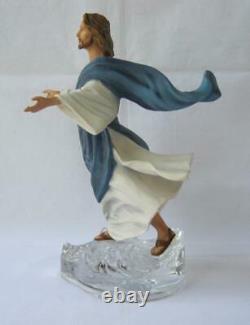 Exquisite Large Franklin Mint JESUS WALKING ON WATER Porcelain Figurine