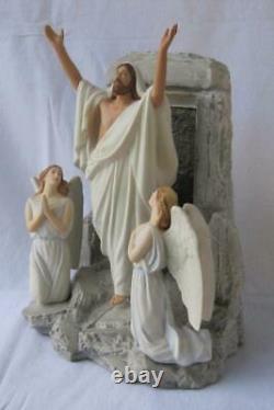 Exquisite Large Franklin Mint Resurrection Easter Jesus Porcelain Figurine