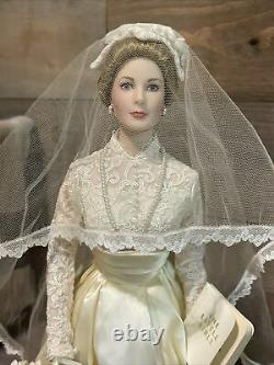 FRANKLIN HEIRLOOM Porcelain Doll The Princess Grace Bride