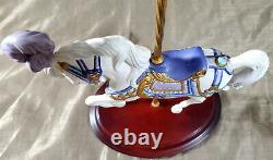 FRANKLIN MINT Carousel Majesty Horse Porcelain Figurine Lynn Lupetti