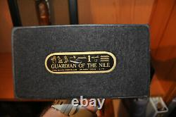FRANKLIN MINT Guardian of the Nile Sculpture Egyptian Cat Porcelain Gold Plated