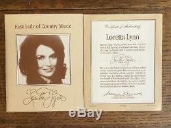 FRANKLIN MINT HEIRLOOM 1987 LORETTA LYNN 19 PORCELAIN DOLL withALL TAGS & STAND