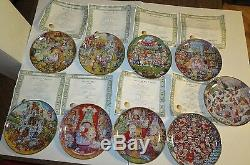 FRANKLIN MINT Lot of 9 Limited Edition 8 Porcelain Cat Plates by BILL BELL