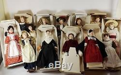 FRANKLIN MINT- MAIDS OF THE 13 COLONIES ALL 13 PORCELAIN DOLLS WithBOX HANDPAINTED