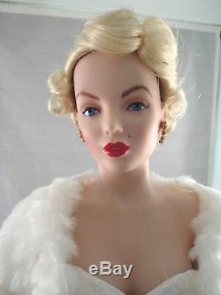 FRANKLIN MINT MARILYN MONROE PORCELAIN DOLL ALL ABOUT EVE With COA AND BOX