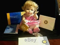 FRANKLIN MINT MARILYN MONROE PORCELAIN PORTRAIT BABY DOLL w RING Tag COA & BOX