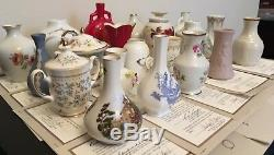 FRANKLIN MINT Miniature Porcelain Vase collection 21 Vases Pristine Condition