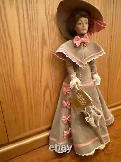 FRANKLIN MINT PORCELAIN GIBSON GIRL DOLL 22 Porcelain Doll Vintage
