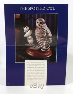 FRANKLIN MINT THE SPOTTED OWL PORCELAIN FIGURINE George McMonigle With COA