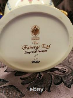 Fabergé Egg Imperial Teapot Collectors House of Faberge Franklin Mint Porcelain