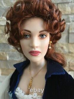 Franklin Heirloom 17 Porcelain DOLL Titanic ROSE in Flying OUTFIT + Jewelry