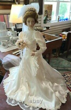 Franklin Heirloom 21 Bridal Porcelain Doll Stunning Beautiful Condition