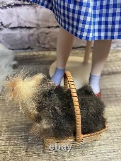 Franklin Heirloom Dolls Wizard Of Oz Cowardly Lion & Dorothy Porcelain Doll Set