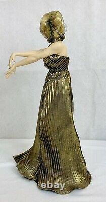 Franklin Heirloom Marilyn Monroe Collector's Doll with Box GOLDEN Porcelain