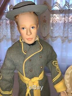 Franklin Heirloom Porcelain Doll Gone With the Wind Rare 5 Character Set